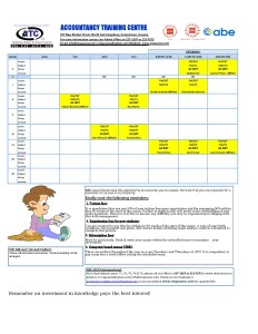 ATC SEPT Time Table